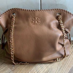 Tory Burch Camel Shoulder Bag!